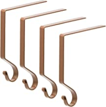 Red Co. Premium Quality Classic - Stocking Holder - Holiday Season Décor Christmas Hanger, Metal in Brown Finish, Set of 4...