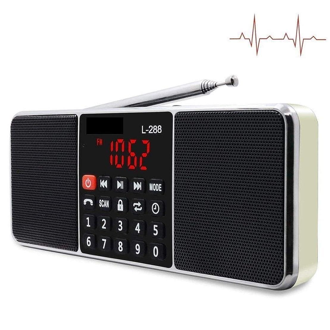 シリングディスコダッシュポータブルAM FMラジオステレオレシーバーBluetoothワイヤレススピーカーサポートTF SDカードUSBディスクMP3 LEDディスプレイハンズフリー (Color : Golden)