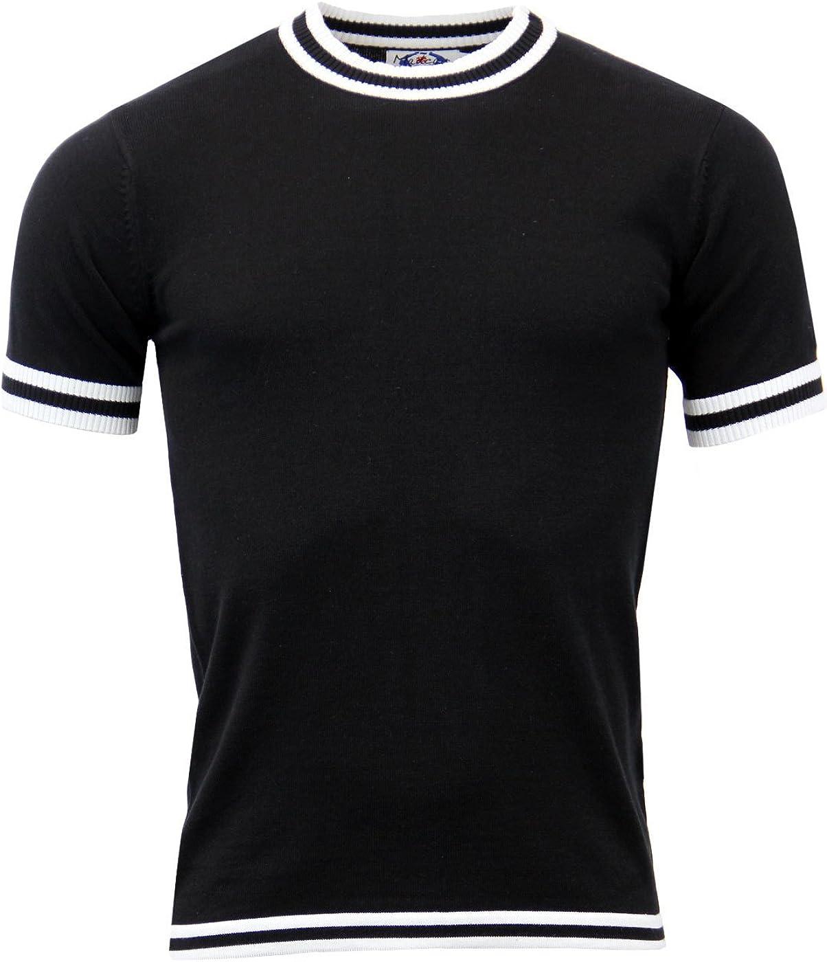 1960s Mens Shirts | 60s Mod Shirts, Hippie Shirts Madcap England Moon Retro Mod Short Sleeve Knitted Jumper £29.99 AT vintagedancer.com