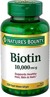Biotina 1000mcg Cabelo Pele Unha (250 SGELS) Natures Bounty
