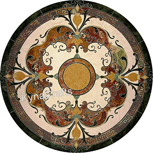 50 x 50 Inches Mosaic Art Kitchen Table Top Beautiful Dinette Table Top for Dining Room from Indian Heritage Crafts