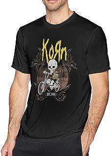 ICHANPQ Mens Vintage Korn T-Shirts Black