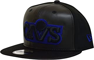 New Era Cleveland Cavaliers Space Hook Leather Front Snapback Hat