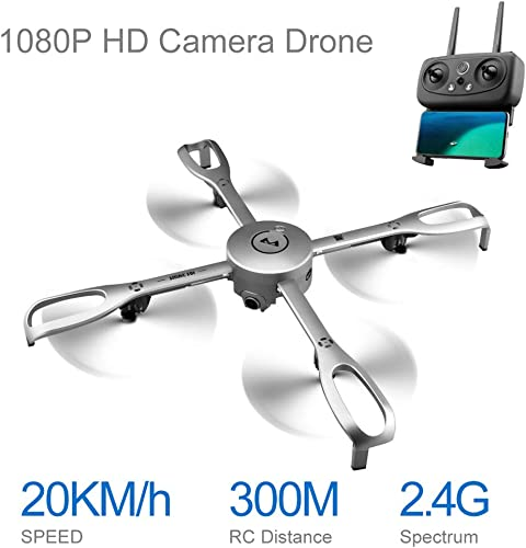 Mitlfuny RC Quadrocopter Drohne,Aititude Hold GPS Follow Me 1080P 90 ° Weißwinkel CAM RC Hubschrauber Faltbare Drohne