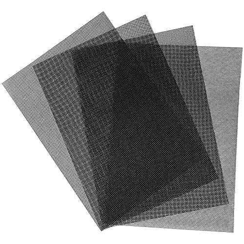 4 pezzi nero in acciaio inox tessuto rete metallica 20 maglie 300 x 210 mm griglia di sfiato dell'aria dura e resistente al calore schermo