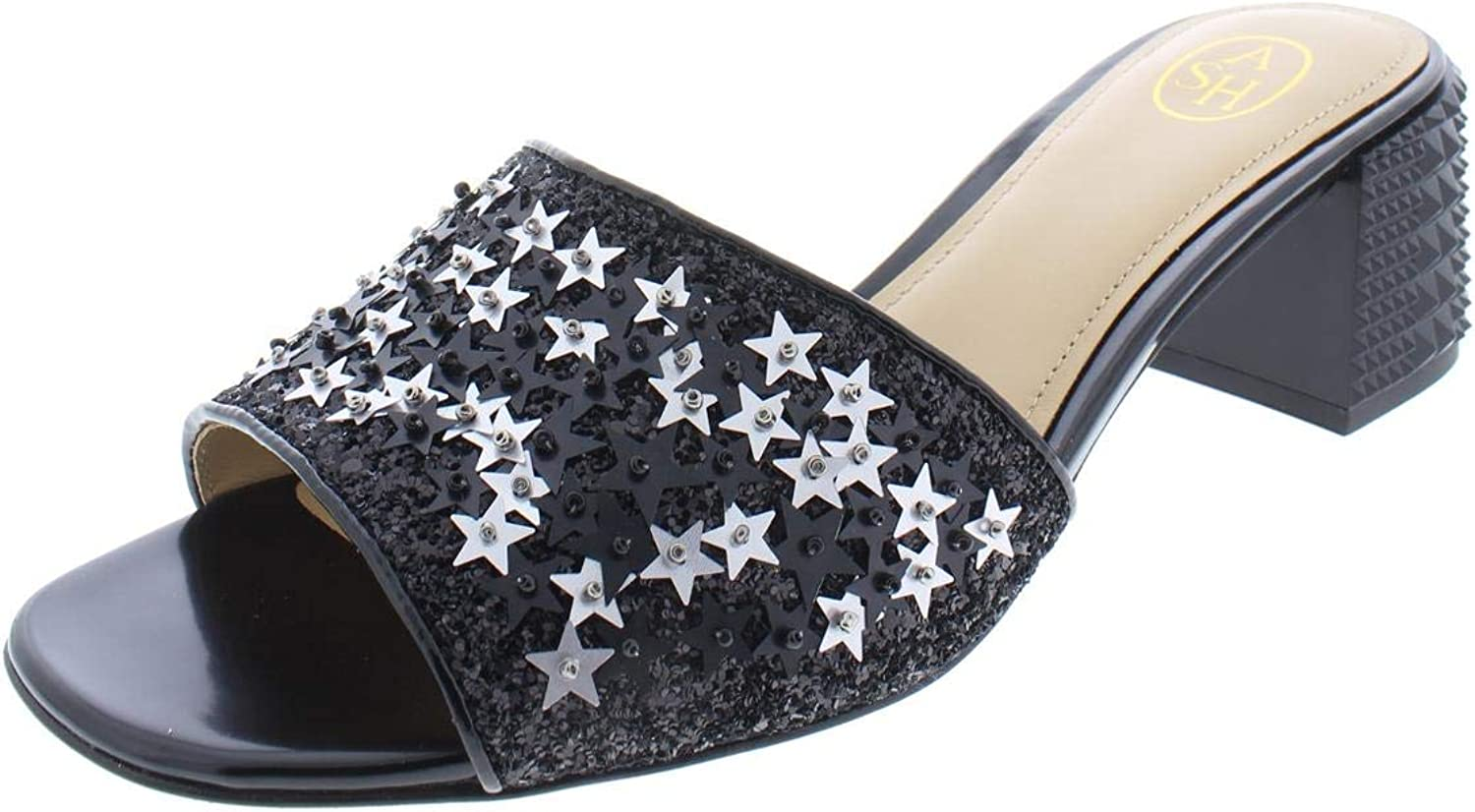 ASH Womens Ruby Star Stars Metallic Heels