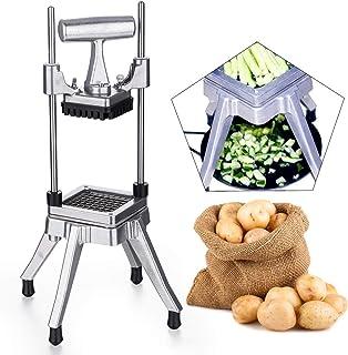 ZGYQGOO 1/4 Pouce Pince À Pommes De Terre Coupeur De Légumes et Crayon De Fruits Industriel Lame en Acier Inoxydable Chopp...