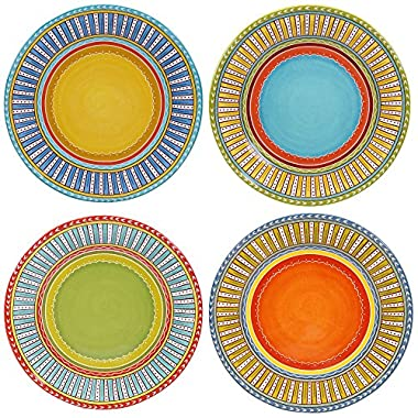 Certified International Valencia Dinner Plates (Set of 4), 11.25 , Multicolor