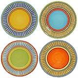 Certified International Valencia Dinner Plates (Set of 4), 11.25', Multicolor