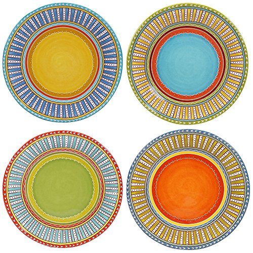 Certified International Valencia Dinner Plates (Set of 4), 11.25', Multicolor