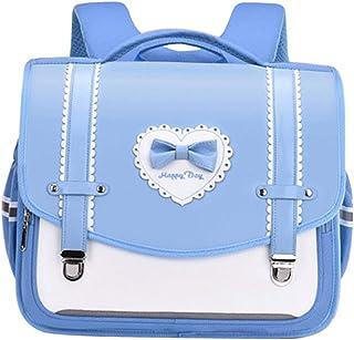 حقيبة ظهر مدرسية للأطفال جلد أبيض حقيبة 2 أحجام كبيرة مزودة بغطاء داخلي