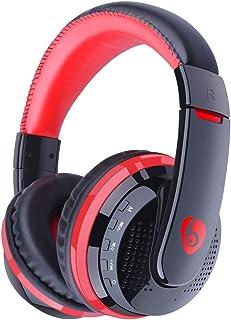 Auriculares Inalámbricos De TV, Auricular Bluetooth con Reproductor MP3 Tarjeta HiFi, Auriculares Inalámbricos con Un Cabl...