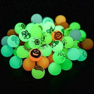 AMUTOY 54PCS Glow in The Dark Halloween Bouncing Balls,Halloween Glow in The Dark Party Supplies for Kids & Adults,School ...