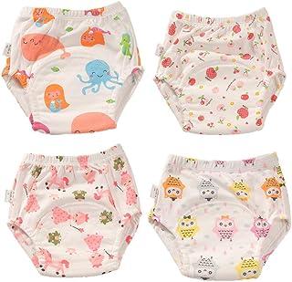 Morbuy-Shop, Pantalones de Entrenamiento para Bebé, Morbuy Reusable Calzones de Entrenamiento Ropa Interior de Entrenamiento Bragas de Aprendizaje para Niño Niña, 6-30 Meses, 4 Piezas