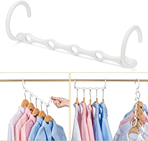 CIMLORD 10PACK Magic Hangers Space Saving Organizers and Storage Clothes Hanger Multi Hangers Space Saver Organization Accessories Sturdy Wardrobe Closet Plastic Hook Back School Furniture