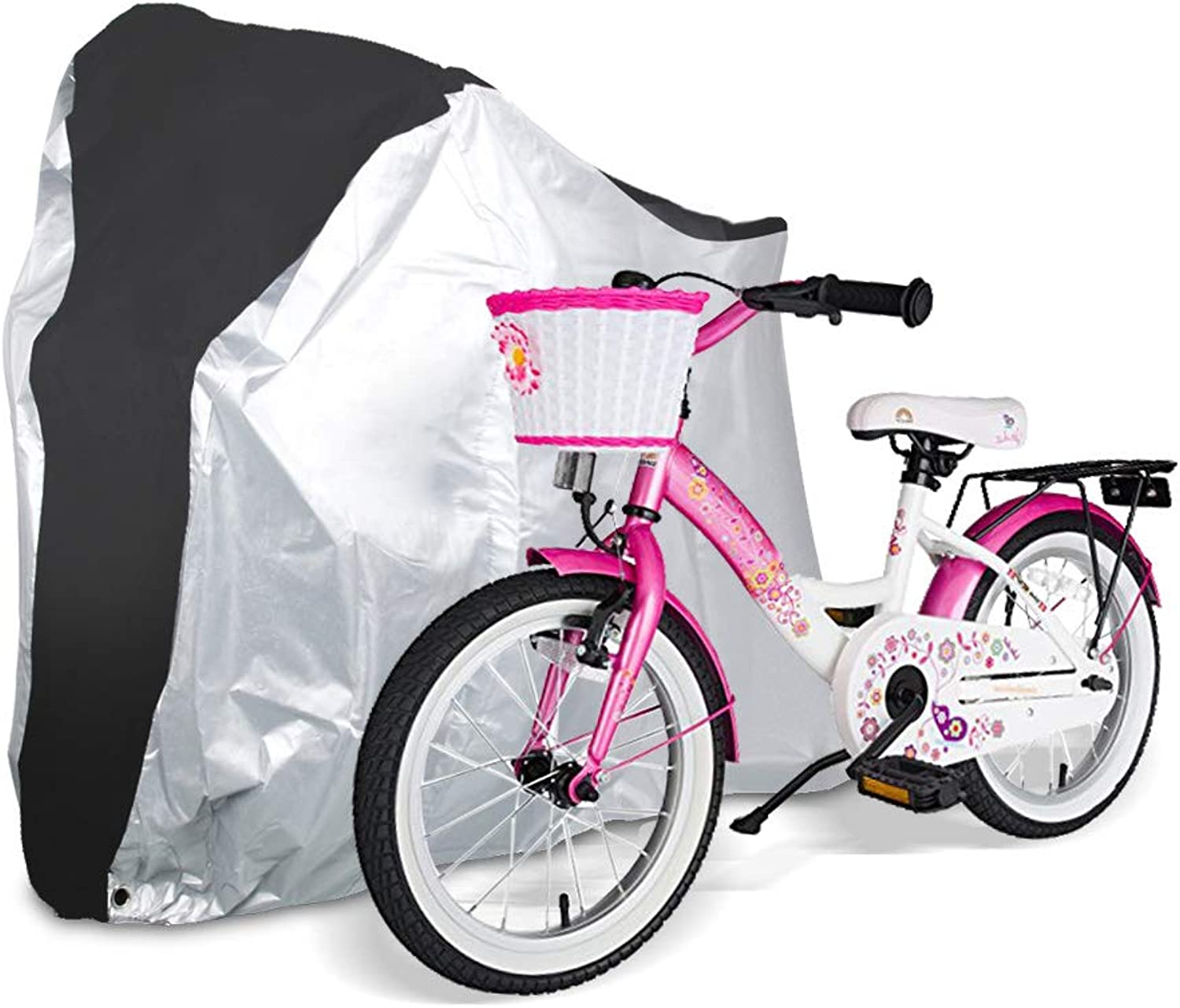 Bicycle Cover - Outdoor Waterproof Anti-Dust Bike Wheel Cover - Foldable Bike Storage Bag with Anti-Theft Lock Holes - Large Size Bike Seat Cover for Kids Bike Mountain Bike Road Bike