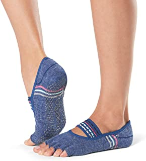 Toesox Grip Pilates Barre Socks - Non-Slip Mia Half Toe for Yoga & Ballet