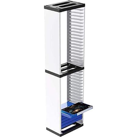 AXDNH Soporte de caja de CD para 36 discos de juego de almacenamiento de torre estante para PS5 para PS4 para Xbox One consola de juegos accesorios