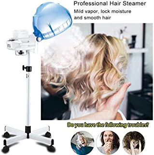 Drying Hoods 650W Hair Processor Hair Treatment Barber Spa Tools Rolling,Temperature Adjustment Salon Hair Steamer Stand U...