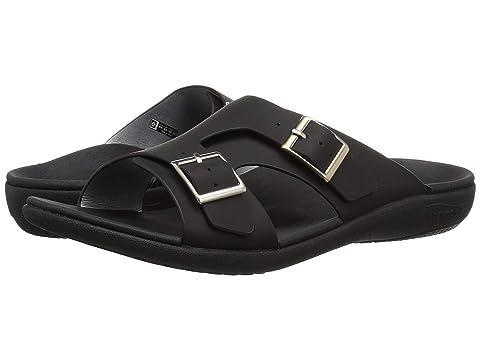 Spenco TaupeWhite BlackLight Brighton Mist Sandal Slide A8wrqvA