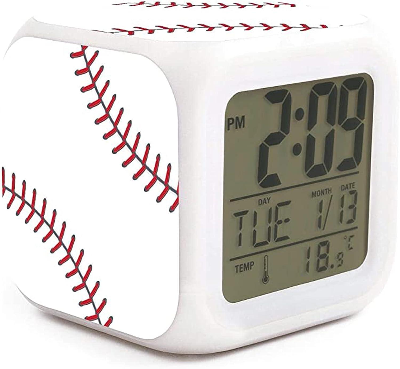 NMlesolg Max 54% OFF Baseball Design Digital Clock Display Ultra-Cheap Deals LED Alarm