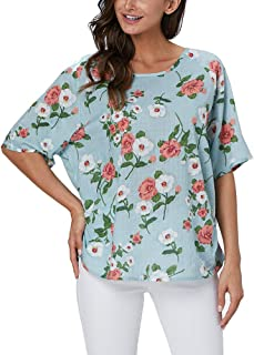 Summer Blouses Tops for Women Casual Loose Cotton Linen Shirts