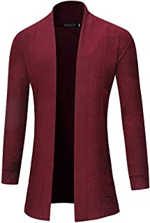 Men's Cardigan Sweater Slim Fit Jacket Front Open Knitwear Coats Sweatshirts Pullovers Tops