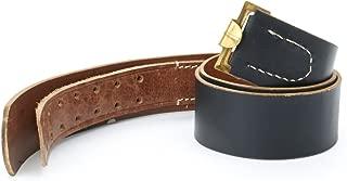 German WWII Wehrmacht Black Leather Equipment Belt- Size 44-48 (112-122cm)