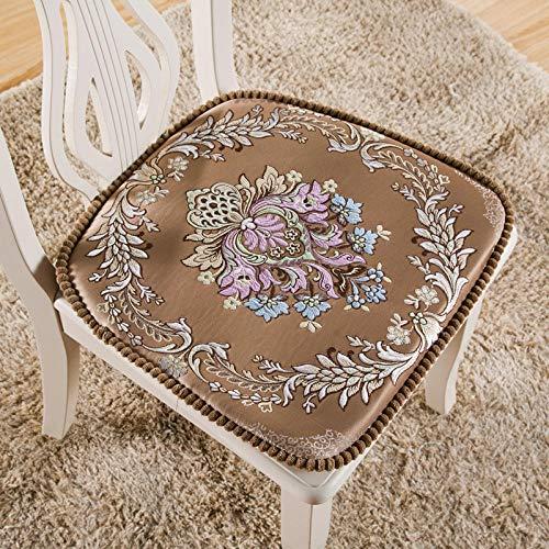 LWGYSpessore Sedia da Pranzo Cuscino Tavolo da Pranzo Sedia Cuscino Cuscino Sgabello Cuscino sfoderabile e Lavabile-caffè provenzale_48 * 48