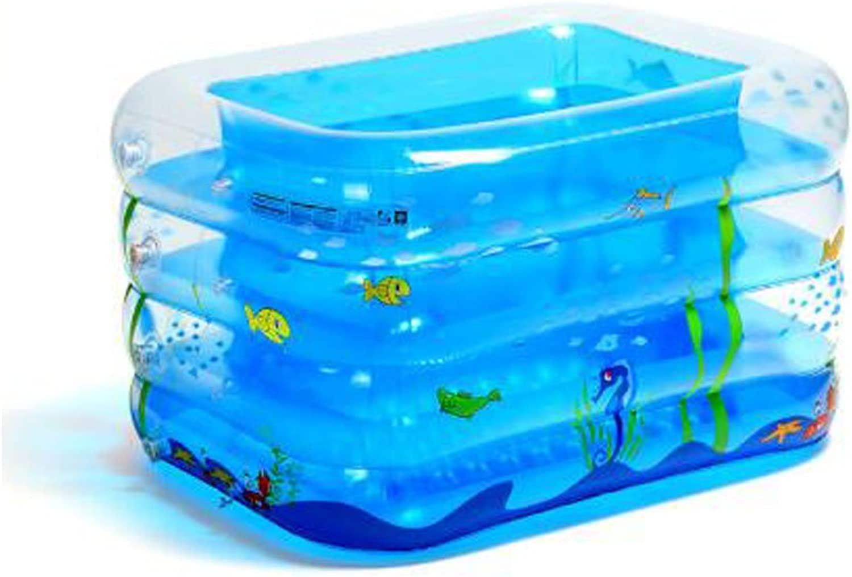 WZLDP Verdickt Kinder Schwimmbad Home Baby Suglingsfamilie aufblasbare Pool Extra groe Kind Baden Eimer grün PVC mit elektrischen Pumpe blau dickere Eimerbadewanne