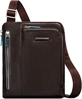 Piquadro iPad Shoulder Bag with Pocket for MP3 Player, Mahogany