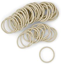 Light Blonde Small Hair Elastics, 2mm Mini Color Match Hair Ties for Kids, Braids and Fine Hair - 48 Count