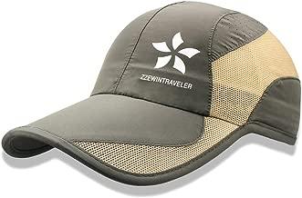 ZZEWINTRAVELER Quick Dry Cap Running Hats Lightweight Breathable Soft Adjustable Outdoor Sports Hat for Men, Women