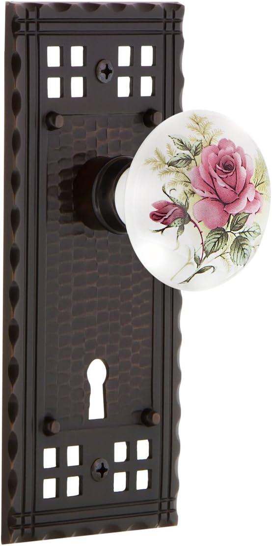 Nostalgic Warehouse Mail order cheap Craftsman Plate Rose Mortise Super sale White Interior