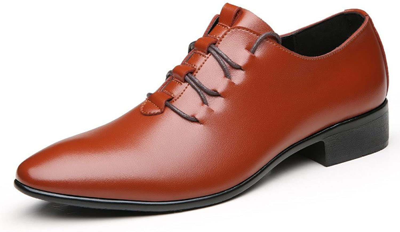 LEDLFIE Commercial Leather shoes Dress shoes Menswear Casual Fashion Lace-up Wedding shoes