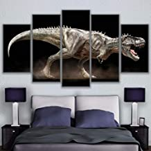 Modular Wall Art Canvas Pictures For Living Room 5 Pieces Painting Home Decor Modular Angry Dinosaur Poster