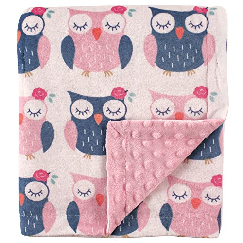 Hudson Baby Unisex Baby Plush Mink Blanket Owls One Size