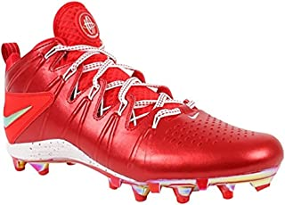New Huarache 4 LAX LE Lacrosse/Football Cleats Red/Silver Sz 14 M