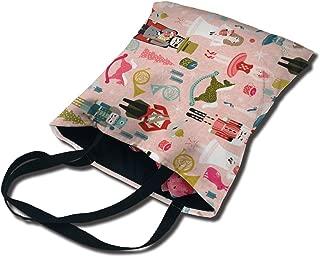 Nutcracker Ballet Rocking Horse Casual Canvas Tote Bags Party Bag For Women Foldable Handbag