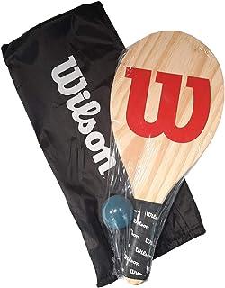 Kit de Frescobol Wilson Logo Raquete Madeira
