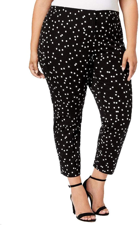 Alfani Plus Size Printed Skinny Pants