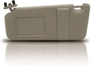 Kerman 74320-06780-B0 Left Driver Side Sun Visor for 2007-2011 Toyota Camry and Camry Hybrid Without Sunroof and Light (Beige)