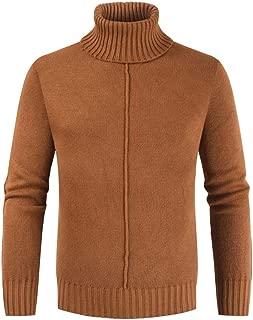 Beautyfine Men's Knitted Sweater Autumn Winter Casual Long Sleeve Slim Mohair Pullover Tops