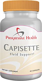 Capisette Fluid Support: Natural Diuretic (Water Pills) for Edema, Lymphedema, and Water Retention - Helps Reduce Swelling in Feet, Ankles, and Legs - Includes Potassium, Horse Chestnut, Hawthorne berry, and Dandelion Root - Dietary Supplement (60 capsules)