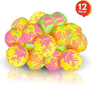 ArtCreativity Colorful Water Splash Ball Set - Pack of 12 - Water Soaker Balls - Assorted Pool and Beach Reusable Toys - Fun Summer Gift from Moms for Kids Ages 3+