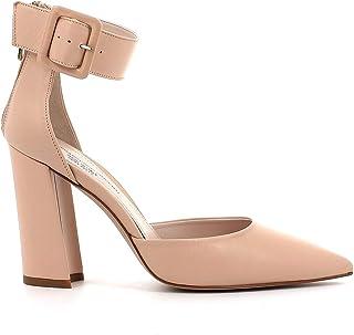 Pierfrancesco Vincenti Scarpe in Pelle con Cerniera Posteriore e Tacco Largo - Scarpe Donna Made in Italy Colore Rosa
