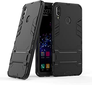 Huawei Nova 3i / Huawei P Smart Plus Case, Hybrid Armor Case [2 in 1] Case Hard PC Cover + Flexible TPU Shock Absorption with Kickstand for Huawei Nova 3i / Huawei P Smart+ (2018) 6.3 inches - Black