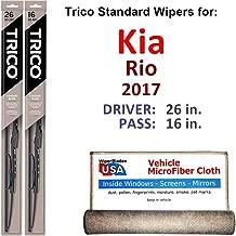 Best kia rio 2017 wiper blade size Reviews