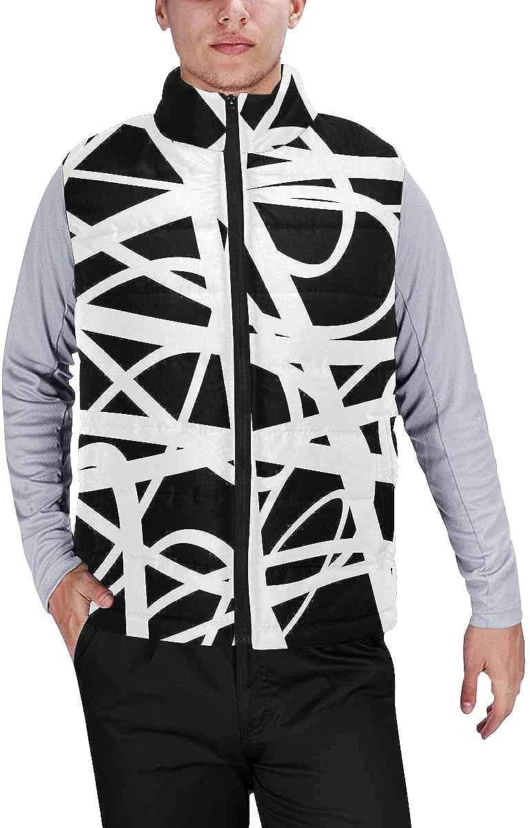 InterestPrint Men's Casual Sleeveless Coats with Personality Design Dark Dragon