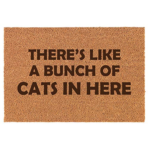 Daylor 30' x 18' Coir Doormat Entry Door Mat Funny There's Like A Bunch of Cats in Here